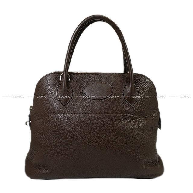 【ご褒美に★】HERMES エルメス ハンドバッグ ボリード31 ショコラ トリヨン シルバー金具 SAランク【中古】 ([Pre-loved]HERMES Handbag Bolide31 Chocolate Taurillon Clemence SHW[USED SA][Authentic])【あす楽対応】#yochika