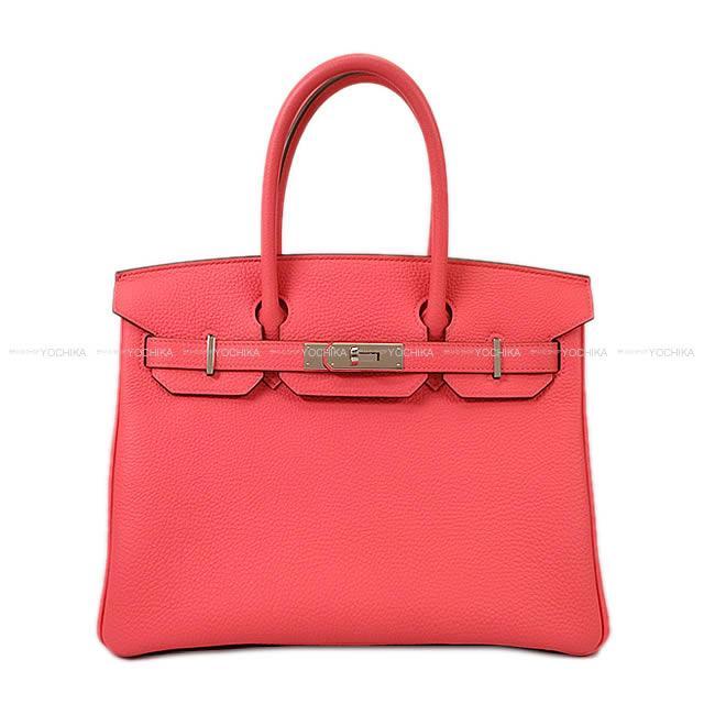 【ご褒美に★】HERMES エルメス ハンドバッグ バーキン30 ローズリップスティック トゴ シルバー金具 新品同様【中古】 ([Pre-loved]HERMES Handbag Birkin30 Rose Lipstick Togo SHW[Near mint][Authentic])【あす楽対応】#yochika