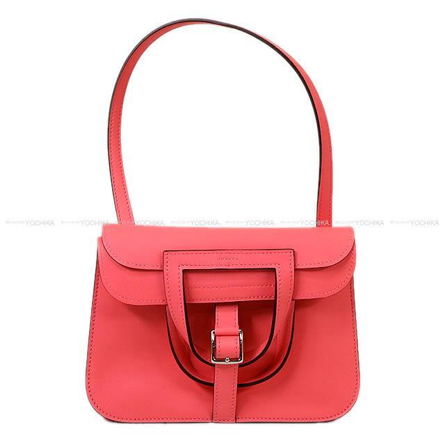 """【父の日ギフト★】【値下げ!】HERMES エルメス 5Way ショルダーバッグ """"アルザン ミニ"""" ローズアザレ スイフト シルバー金具 新品 (HERMES 5Way shoulder bags """"Halzan Mini"""" Rose Azalee Swift SHW[Brand New][Authentic])【あす楽対応】#yochika"""