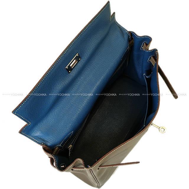 【自分へのご褒美★】【値下げ!】HERMES エルメス バッグ ケリー32 内縫い キャンディー エタンXブルータラサ エプソン ABランク【中古】 ([Pre-loved]HERMES Bags Kelly32 Retourne CANDY Etain/Bleu Thalassa Epsom SHW[USED AB][Authentic])【あす楽対応】#yochika