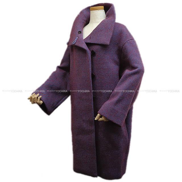 【父の日ギフト★】2017年 秋冬 HERMES エルメス レディース ロングコート #34 ルージュカーマイン ウール100% 新品 (HERMES Lady's Long Coat #34 Rouge Carmine Wool 100% [Brand New][Authentic])【あす楽対応】#yochika