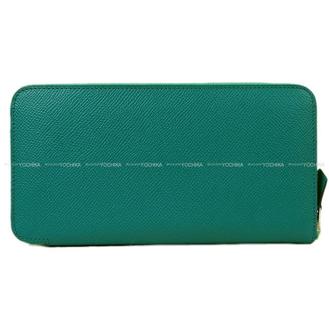 【ご褒美に★】HERMES エルメス アザップロング 長財布 ブルーパオン エプソン シルバー金具 新品同様【中古】 ([Pre-loved]HERMES wallet Azapp Long Blue Paon Epsom SHW[Near mint][Authentic])【あす楽対応】#yochika