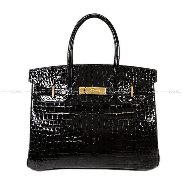 【値下げ】【ご褒美に★】HERMES エルメス バーキン30 黒(ブラック) クロコダイル ポロサス ゴールド金具 新品 (HERMES handbags Birkin 30 Black(Noir) crocodile Porosus GHW[Brand New][Authentic])【あす楽対応】#よちか