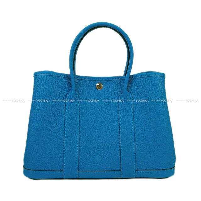 【ご褒美に★】HERMES エルメス ハンドバッグ ガーデンパーティ 30 TPM ブルーザンジバル ネゴンダ 新品 (HERMES handbags Garden Party 30 TPM Blue Zanzibar Negonda[Brand New][Authentic])【あす楽対応】#yochika
