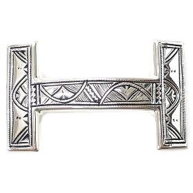 """【ご褒美に★】HERMESエルメスコンスタンスHベルトバックル""""トゥアレグ""""シルバー925新品未使用(HERMESBeltBuckle""""Tuareg""""Silver925[Neverused][Authentic])【あす楽対応】#yochika"""