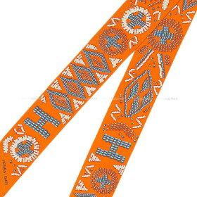 """【ご褒美に★】HERMESエルメスツイリースカーフ""""ケリーアンペルル""""オレンジ/ブルー/グリスパールシルク100%新品(HERMESTwillyScarf""""KELLYENPERLES""""Orange/Blue/GrispearlSilk100%[Brandnew][Authentic])【あす楽対応】#yochika"""