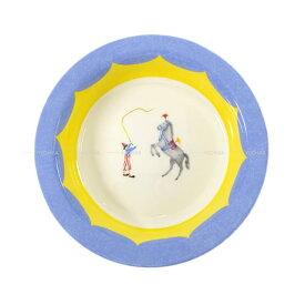 """【ご褒美に★】HERMES エルメス ボウルプレート 皿 """"サーカス ムチ LES EQUILIBRISTES"""" ブルー/白/イエロー ポーセリン 新品未使用 (HERMES Bowl plate Dish """"Circus whip LES EQUILIBRISTES"""" Blue/White/Yellow Porcelain[Never used][Authentic])【あす楽対応】#yochika"""
