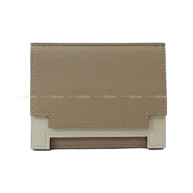 【ご褒美に★】HERMES エルメス カードケース ''ミュルチプリ'' グリアスファルト/グリスパール(パールグレー) スイフト 新品未使用 (HERMES Card case ''Multiplis'' Gris asphalt/Gris pearl(Pearl gray) Swift [Never Used][Authentic])【あす楽対応】#yochika