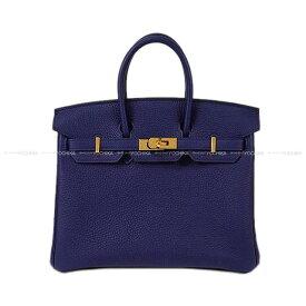 【エントリーでポイント10倍★7/21-26迄】HERMES エルメス ハンドバッグ バーキン25 ブルーアンクル(ブルーインク) トゴ ゴールド金具 新品 (HERMES Handbag Birkin 25 Blue encre Togo GHW[Brand new][Authentic])【あす楽対応】#よちか