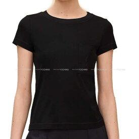 【増税前のお買い物★】2019年春夏 新作 HERMES エルメス レディース Tシャツ ポケット付 刺繍 #36 黒 (ブラック) コットン100% 新品 (2019 S/S NEW HERMES Lady's Embroidered pocket T-shirt #36 Black (Noir) Cotton100%[Brand New][Authentic])【あす楽対応】#よちか