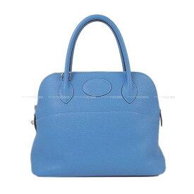 【夏のご褒美に★】HERMES エルメス ハンドバッグ ボリード31 ブルーパラダイス トリヨン シルバー金具 新品同様【中古】 ([Pre-loved]HERMES Handbag Bolide 31 Blue paradise Taurillon Clemence SHW [Near mint][Authentic])【あす楽対応】#よちか