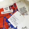 "HERMES エルメスレディースノースリーブニットセータープリントツイルレーヌ ""pass mantle Lee Qadry"" #34 white new article-free (HERMES Lady's Semi-order Sleeveless Knit Print)# よちか"