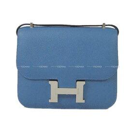 【キャッシュレスポイント還元★】HERMES エルメス ショルダーバッグ コンスタンス 3 ミニ 18 アズール エプソン シルバー金具 新品 (HERMES Shoulder Bag Constance 3 Mini 18 Bleu azur Epsom SHW[Brand new][Authentic])【あす楽対応】#よちか