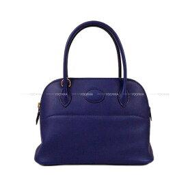 【キャッシュレスポイント還元★】HERMES エルメス ショルダーバッグ ボリード27 ブルーアンクル(ブルーインク) スイフト ゴールド金具 新品 (HERMES Shoulder bag Bolide 27 Bleu encre Swift GHW[Brand new][Authentic])【あす楽対応】#よちか