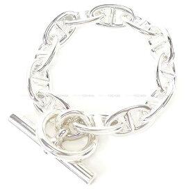 【ご褒美に☆】HERMES エルメス ブレスレット バングル シェーヌダンクル GM 12コマ シルバー925 新品 (HERMES Bracelet Bangle Chaine D'ancre GM Silver 925[Brand new][Authentic])【あす楽対応】#よちか