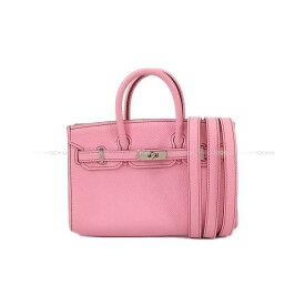 【夏のボーナスで☆】【値下げ!】HERMES エルメス ショルダーバッグ タイニーバーキン ピンク エプソン シルバー金具 新品同様【中古】 ([Pre-loved]HERMES Shoulder Bag Tiny Birkin Uno pink Epsom SHW[Near mint][Authentic])【あす楽対応】#よちか