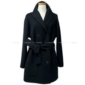 """【ご褒美に☆】HERMES エルメス レディース コート """"キャバン カシミア ダブルフェイス"""" #38 黒 カシミア 新品 (HERMES Lady's Coat """"Cavan Cashmere double Face""""Noir(Black)[Brand New][Authentic])【あす楽対応】#よちか"""