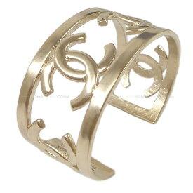 【ご褒美に☆】CHANEL シャネル ココマーク バングル ブレスレット マットゴールド 新品未使用 (CHANEL Coco Mark Bangle Bracelet Mat Gold [Never Used][Authenic])【あす楽対応】#よちか