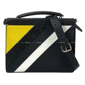 フェンディ クラッチ ショルダーバッグ ピーカブー フィット ミニ 黒(ブラック)/イエロー/白 ローマンレザー/カーフ 7VA422 新品未使用 (FENDI Crutch Shoulder Bag PeekaBoo Fit Mini Black/Yellow/White Roman leather[Never used][Authentic])【あす楽対応】#よちか