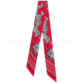 """【 キャッシュレスポイント還元★】2020年春夏 新作 HERMES エルメス ツイリー スカーフ """"ゼブラ バンダナ """" ルージュX黒(ブラック)X白(ホワイト) シルク100% 新品 (Twilly Scarf """"Les Zebres"""" Rouge/Black(Noir)/White(Blanc) Silk100%)【あす楽対応】#よちか"""