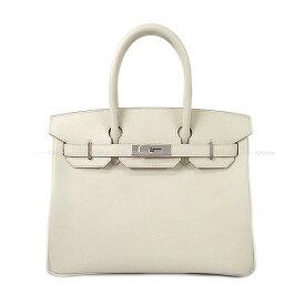 【キャッシュレスポイント還元★】HERMES エルメス ハンドバッグ バーキン30 クレ エプソン シルバー金具 新品同様【中古】 ([Pre-loved]HERMES Handbag Birkin 30 Craie Epsom SHW[Near mint][Authentic])【あす楽対応】#よちか