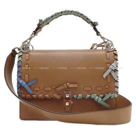 """【ご褒美に☆】2018年 春夏限定 FENDI フェンディ 2way ショルダーバッグ ハンドバッグ """"キャナイ"""" ブラウン 8BT283 新品未使用 (2018 S/S Limited FENDI 2way Shoulder Bag Handbag """"KAN I"""" Brown 8BT283[Never used][Authentic])【あす楽対応】#よちか"""