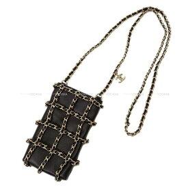 【ご褒美に☆】2020年 クルーズ CHANEL シャネル チェーン ショルダーバッグ スマホ フォン ケース AP1161 黒(ブラック) 新品 (2020 Cruise CHANEL Chain shoulder bag smartphone case)【あす楽対応】#よちか