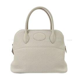 【ご褒美に☆】HERMES エルメス ハンドバッグ ボリード31 ベトン トリヨン シルバー金具 新品同様【中古】 ([Pre-loved]HERMES Handbag Bolide 31 Beton Taurillon Clemence SHW [Near mint][Authentic])【あす楽対応】#よちか