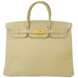 【ご褒美に☆】HERMES エルメス ハンドバッグ バーキン40 パシュマン オーストリッチ ゴールド金具 新品同様【中古】 ([Pre-loved]HERMES Handbag Birkin 40 Parchemin Ostrich GHW[Near mint][Authentic])【あす楽対応】#よちか