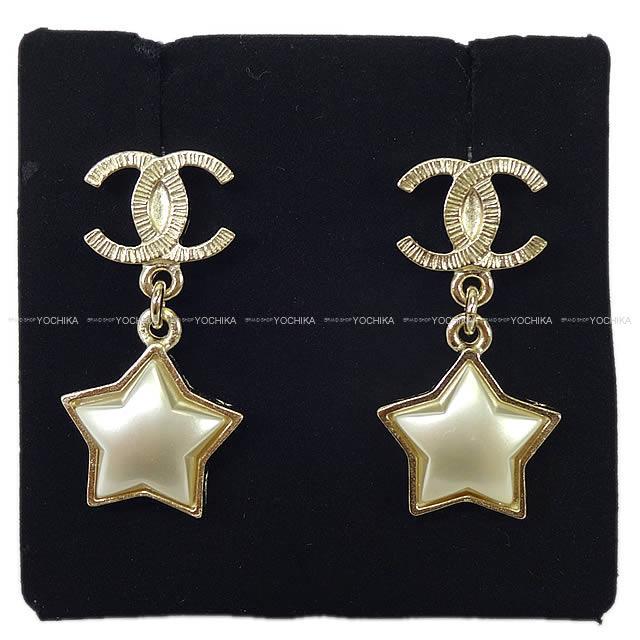 2017年秋冬 CHANEL シャネル ココマーク スター ぶらさがり 星 ピアス ゴールド A99141 新品 (2017AW NEW CHANEL Star Petit Cocomark Pierces Gold A99141[Brand New][Authentic])【あす楽対応】#よちか