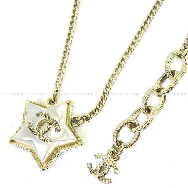 【自分へのご褒美に★】2017年秋冬 新作 CHANEL シャネル ココマーク スター 星 ネックレス ゴールド A99147 新品 (CHANEL COCO Mark Star Necklace Gold A99147 [Brand New][Authentic])【あす楽対応】#よちか