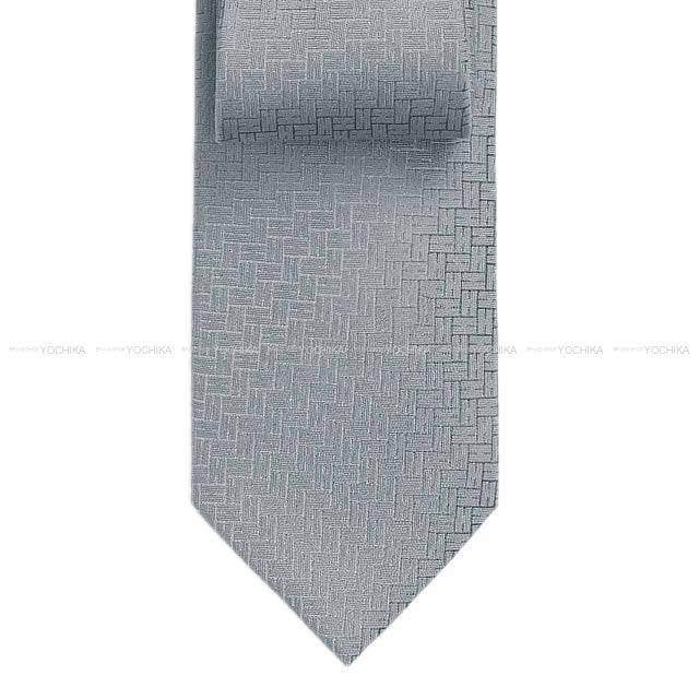 """【自分へのご褒美に★】HERMES エルメス ネクタイ """"FACONNEE H 24"""" グリサンドルグレー シルク100% 新品 (HERMES Tie """"FACONNEE H 24"""" Gris Cendre Silk100% [Brand New][Authentic])【あす楽対応】#よちか"""