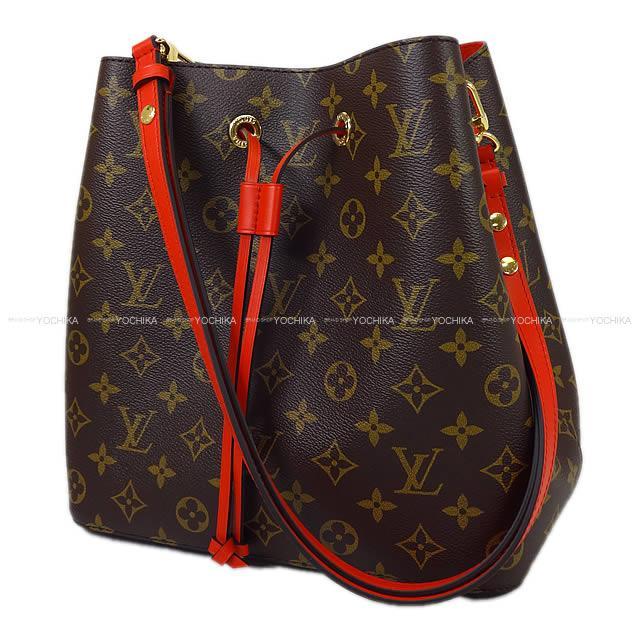 "LOUIS VUITTON ルイ・ヴィトン ショルダーバッグ ""ネオノエ"" コクリコ レッド モノグラムXカーフ M44021 新品 (LOUIS VUITTON Shoulder bag ""NEO NOE"" Coquelicot Red Monogram/Calf M44021[Brand New][Authentic])【あす楽対応】#よちか"