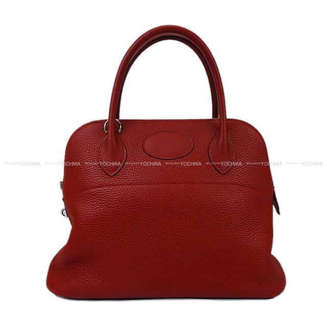 【エントリーdeポイント10倍★11/27 9:59迄】HERMES エルメス ハンドバッグ ボリード31 ルージュギャランセ トリヨン シルバー金具 新品未使用 (HERMES Handbag Bolide 31 Rouge garance Taurillon Clemence SHW[Never used][Authentic])【あす楽対応】#よちか