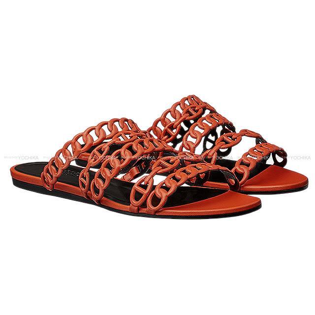 """【クリスマスプレゼントに★】HERMES エルメス レディース セリエ サンダル """"NUDE ヌード"""" #36.5 キュイーブル ナッパレザー 新品 (HERMES Lady's Sellier Sandals """"Nude"""" #36.5 Cuivre Nappa Leather[Brand New][Authentic])【あす楽対応】#よちか"""