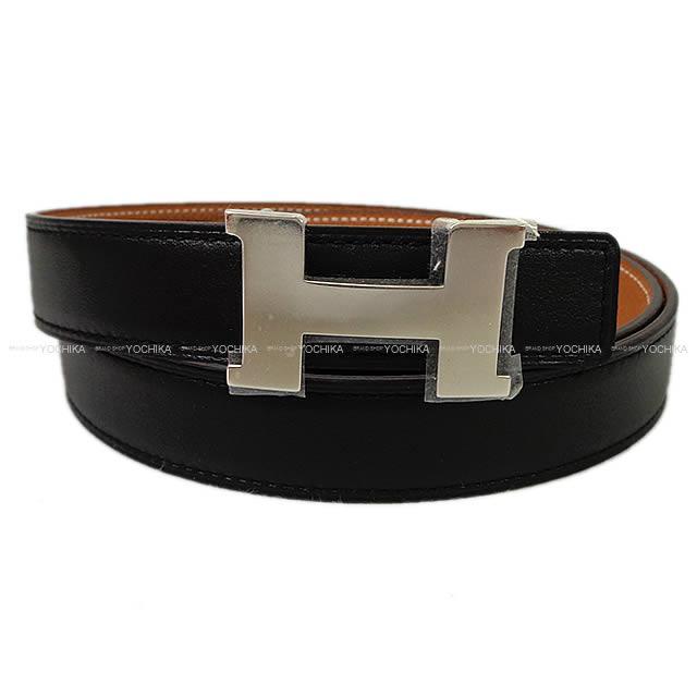 【値下げ!】HERMES エルメス コンスタンス 24 リバーシブル ミニ Hベルト #90 黒Xゴールド スイフトXエプソン シルバー金具 新品 (HERMES Mini-Constance 24 Reversible H-Belt #90 Black/Gold Swift/Epsom Silver Hardware[Brand new][Authentic])【あす楽対応】#よちか