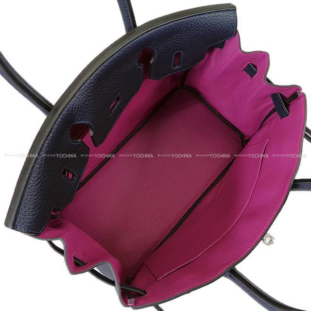 【ご褒美に★】HERMES エルメス ハンドバッグ バーキン30 ヴェルソ ブルーニュイXローズパープル トリヨン シルバー金具 新品 (HERMES handbag Birkin 30 Verso Bleu nuit/Rose Purple Taurillon Clemence SHW [Brand New][Authentic])【あす楽対応】#よちか