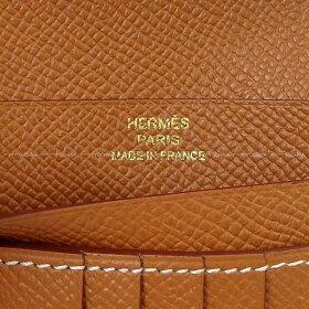 【ご褒美に★】HERMESエルメス財布ベアンコンパクトゴールドエプソンゴールド金具新品(HERMESBearnCompactWalletGoldEpsomGHW[Brandnew][Authentic])【あす楽対応】#よちか