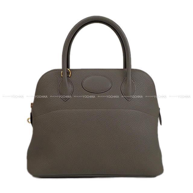 【ご褒美に★】HERMES エルメス ハンドバッグ ボリード31 エタン トリヨン ゴールド金具 新品 (HERMES Handbag Bolide 31 Etain Taurillon Clemence GHW[Brand New][Authentic])【あす楽対応】#よちか