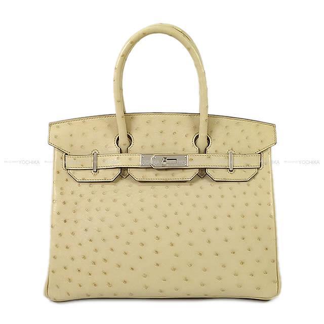 【値下げ!】【冬のボーナスで!】HERMES エルメス ハンドバッグ バーキン30 パシュマン オーストリッチ シルバー金具 新品未使用 (HERMES Handbags Birkin 30 Parchemin Ostrich SHW [Never used][Authentic])【あす楽対応】#よちか