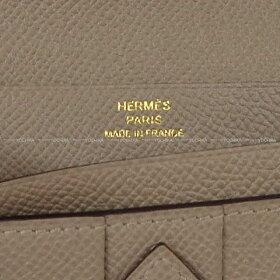 【ご褒美に★】HERMESエルメス長財布ベアンスフレグリアスファルトエプソンローズゴールド金具新品(HERMESGussetWalletBEARNSOUFFLETGrisasphaltEpsomRGHW)