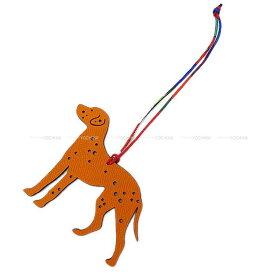 """【ご褒美に☆】HERMES エルメス バッグチャーム プティアッシュ チャーム """"ダルメシアン 犬"""" オレンジ/黒(ブラック) エプソン/トゴ 新品 (HERMES Bag charm petit H """"Dalmatian Dog"""" Orange/Noir(Black) Epsom/Togo[Brand new][Authentic])【あす楽対応】#よちか"""
