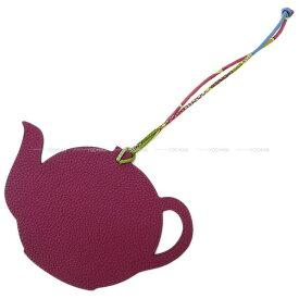 """【ご褒美に☆】HERMES エルメス バッグチャーム プティアッシュ """"ティーポット"""" トスカ/ブルーアトール トゴ/エプソン 新品未使用 (HERMES Bag Charm Petit H """"Teapot"""" Tosca/Blue atoll Togo/Epsom[Never used][Authentic])【あす楽対応】#よちか"""