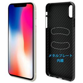YOCOM iPhone XR ケース アイフォン 薄型 0.65mm カメラ保護 すり傷に強い マグネットホルダー使用対応 上等航空用ケブラー繊維素材 指紋防止 手汗防止 いい手触り 高級感 (ブラック)