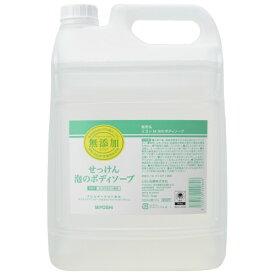 ミヨシ石鹸 業務用 無添加せっけん 泡のボディソープ 詰替え 5L ( ノズル付 )