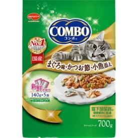 【×2個セット送料無料】日本ペットフード コンボ キャット まぐろ味 かつお節 小魚添え 140g×5袋(4902112042298)