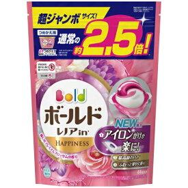 【送料無料・まとめ買い6個セット】P&G ボールド レノアin 洗濯洗剤 ジェルボール3D 癒しのプレミアムブロッサムの香り 詰替用 超ジャン(44個入)
