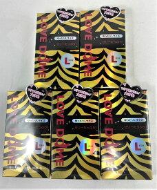 【×5個セットメール便送料込】【オカモト】ラブドーム タイガー ゆったりLサイズ 12個入り(コンドーム) 避妊具 スキン 大き目(4547691721280 )