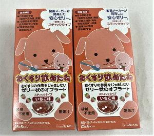 【25g×6本×2箱セット送料込み】【龍角散】おくすり飲めたね いちご味 スティックタイプ
