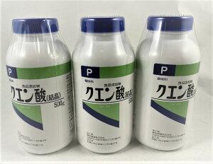 【×3個セット送料無料】【健栄製薬】ケンエー クエン酸(結晶)P 500g